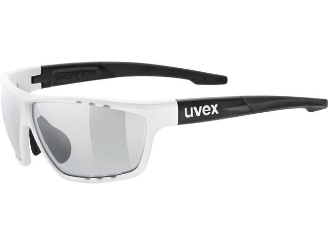 UVEX Sportstyle 706 V Sportglasses white/black mat/smoke